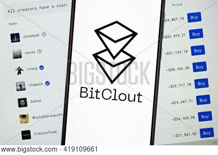 Kazan, Russia - May 2, 2021: Bitclout Is A Crypto Social Network That Allows You To Speculate On Peo