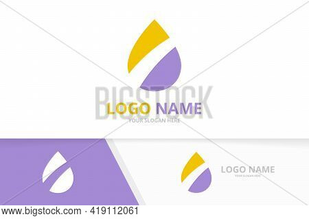 Abstract Water Logo. Corporate Clear Drop Logotype Design Template.