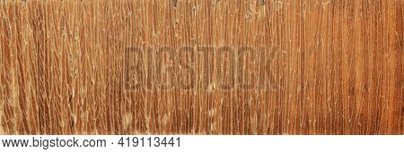 The Texture Of The Cracked Varnish On The Furniture. Cracked Furniture Veneer. Cracks From Old Age O