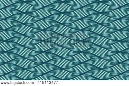 Abstract Blue Gray Twisty Wavy Background. Template For Banner, Poster, Flyer, Brochure, Presentatio