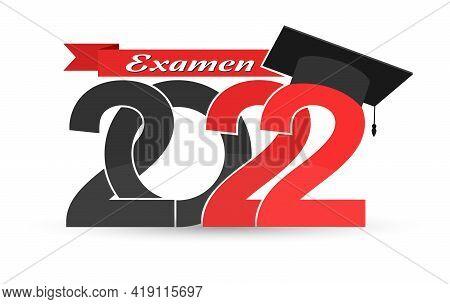 Graduate 2022. Language Swedish. Stylized Inscription With The Year Of Graduation, The Graduate's Ca