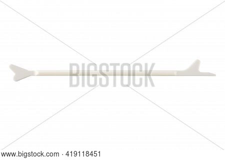 Gynecological Spatula Of The Cervix. Tool For Cytology Smear Isolated On White Background. A Smear T