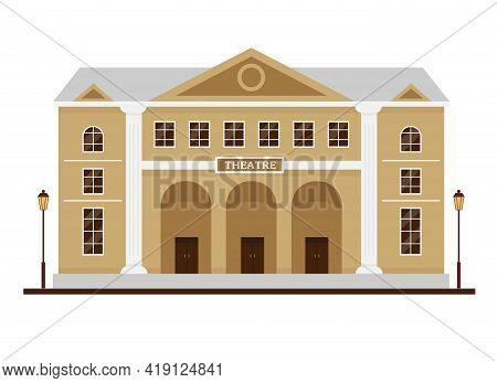 Facade Of Theatre Building. Opera House Exterior.