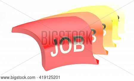 Job Icon Seires In Line Isolated On White Background - 3d Rendering Illustration