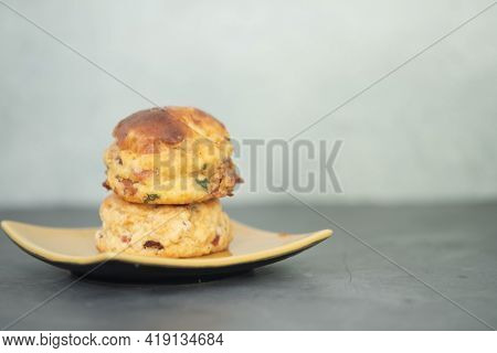 Close Up View Of Homemade Scones On The Table