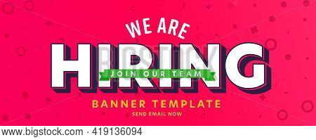 We Are Hiring Header Banner Template With Offer Join To Team. Headhunting Agency Website Design For