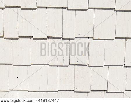 Vintage Retro Wall Siding Shingles Random Sizes Painted White