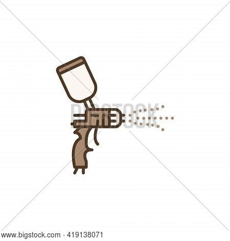 Vector Spray Gun Painting Concept Colored Icon