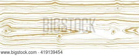 Dense Thin Lines Pattern White Background With Light Golden Vein. Wood Grain Texture. Seamless Tree