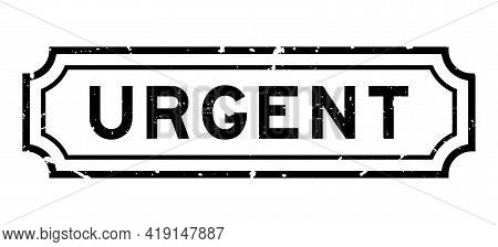 Grunge Black Urgent Word Rubber Seal Stamp On White Background
