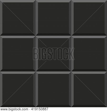 Acoustic Foam Seamless Pattern. Soundproofing Acoustic Texture. Vector