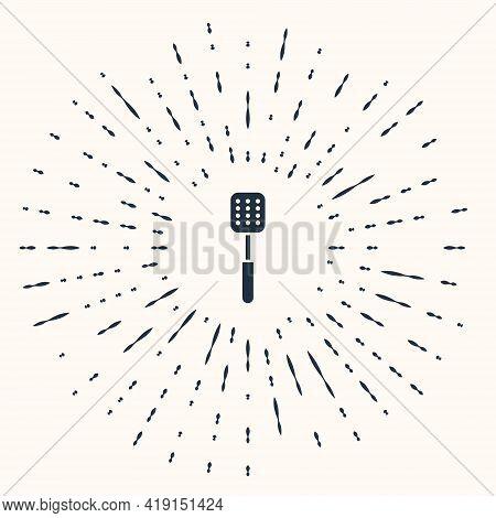 Grey Spatula Icon Isolated On Beige Background. Kitchen Spatula Icon. Bbq Spatula Sign. Barbecue And