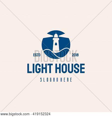 Light House Logo Hipster Retro Vintage Vector Template