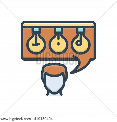 Color Illustration Icon For Tip Advice Point Extremity Person Counsel