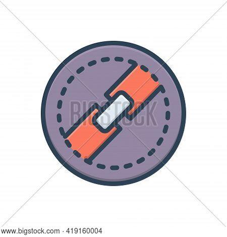 Color Illustration Icon For Block Close Choke Section Segment