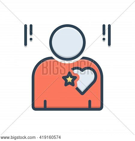 Color Illustration Icon For Candor Candour Sincerity Honesty Candidness