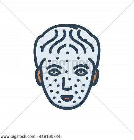 Color Illustration Icon For Chickenpox Medical Disease Illness Sickness