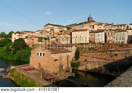 Albi, France - July 17, 2014: Panoramic View Of Albi, Episcopal City Listed As World Heritage By Une