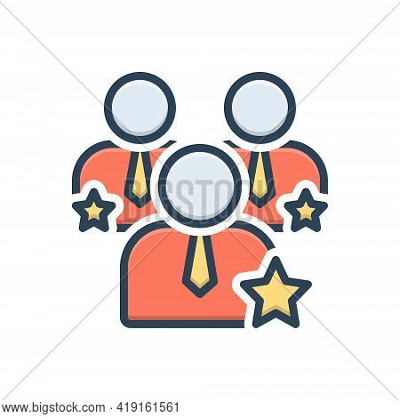 Color Illustration Icon For Competence Capacity Competency Ability Mightiness