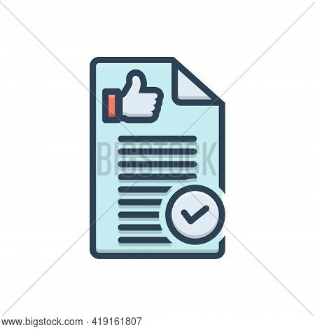 Color Illustration Icon For Definitely Absolutely Fully Altogether Decidedly Feedback Textbox