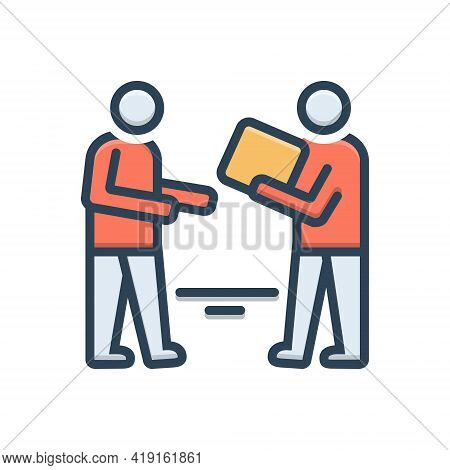 Color Illustration Icon For Demanding Solicit Postulate Ask Demand Requisition