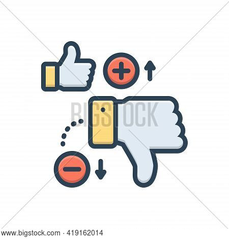 Color Illustration Icon For Disadvantage Unlike Thumb Loss Deficit Scathe