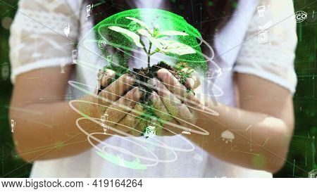 Future Environmental Conservation And Sustainable Esg Modernization Development By Using Technology