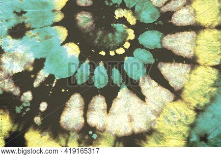 Art Ink Roll. Color Pattern. Watercolor Water Design. Tie-dye Swirl Kaleidoscope. Psychedelic Tie Dy