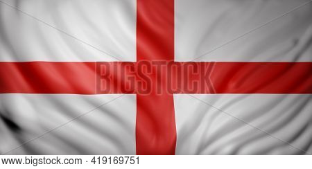 3d Rendering Of A National England Flag