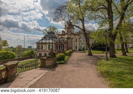 The Baroque Park Of The Bolongaropalast In Frankfurt-hoechst, Germany