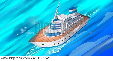 Cruise Big Ship 3D Model Good For Travel And Tourism Ads, Books, Good For Travel Tourism Brochure Le