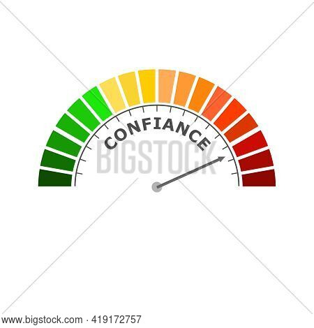 Trust Level Meter. Business And Financial Concept