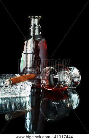 Cigar With Cognac