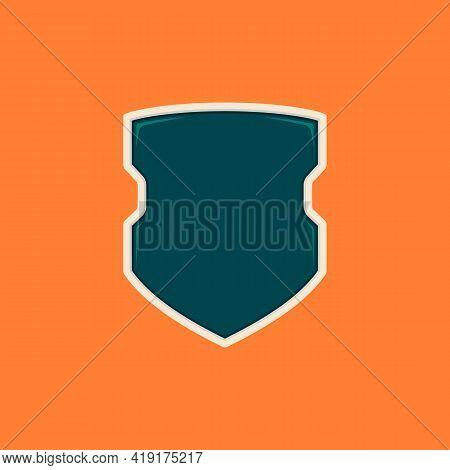 Futuristic Cops Blank Shield Badge Template Desgn