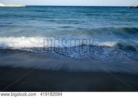 Sea Wave View. Seasonal Natural Background And View