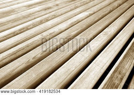 Wooden Planks Texture In Brown Tone. Abstract Background And Texture For Design.