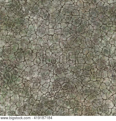 Cartoon Seamless Texture Of Color Fantasy Cobble Stone Ground Pavement