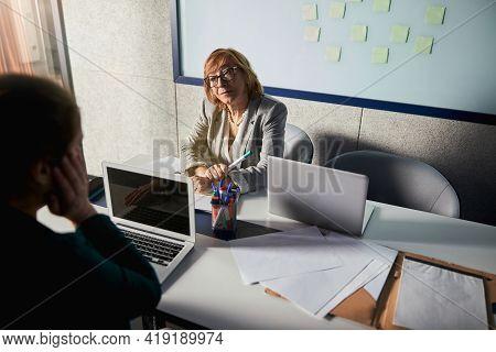 Understanding Boss Listening To Her Subordinate Complaints