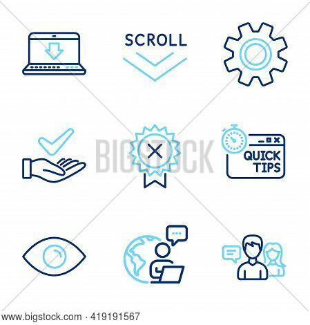 Technology Icons Set. Included Icon As Dermatologically Tested, Service, Internet Downloading Signs.
