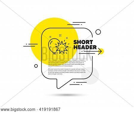 Balloon Dart Line Icon. Speech Bubble Vector Concept. Amusement Park Sign. Pop The Balloon Symbol. B