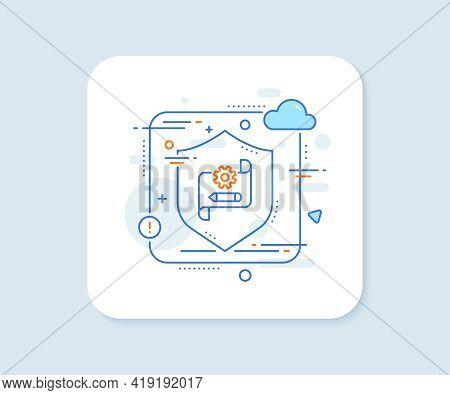 Cogwheel Blueprint Line Icon. Abstract Vector Button. Engineering Tool Sign. Edit Settings Symbol. C