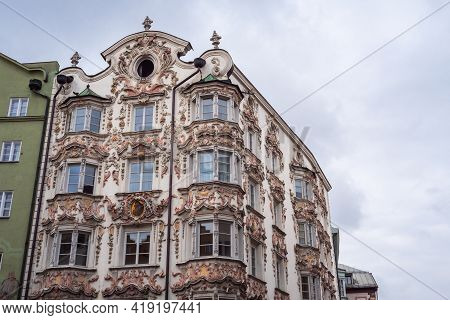 Hoelblinghaus Or Hoelbing House In Herzog Friedrich Strasse, A Baroque Building Facade Or Exterior I