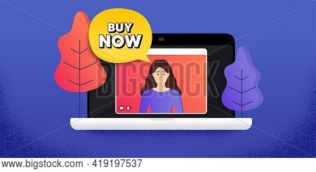 Buy Now. Video Call Conference. Remote Work Banner. Special Offer Price Sign. Advertising Discounts