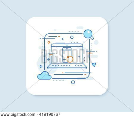 Recovery Phone Line Icon. Abstract Vector Button. Backup Data Sign. Restore Smartphone Information S
