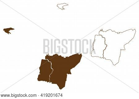 Leer District (federal Republic Of Germany, Rural District, State Of Lower Saxony) Map Vector Illust