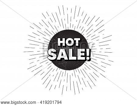 Hot Sale. Vintage Star Burst Banner. Special Offer Price Sign. Advertising Discounts Symbol. Hipster