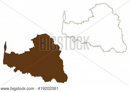 Osterholz District (federal Republic Of Germany, Rural District, State Of Lower Saxony) Map Vector I