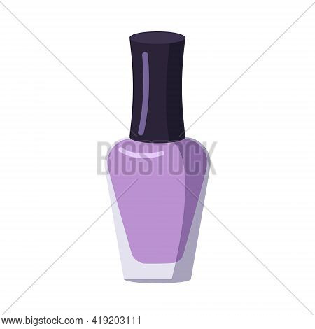 A Bottle Of Nail Polish. Manicure Tools. Caring For The Health Of Hands And Nails. Beauty Salon Icon