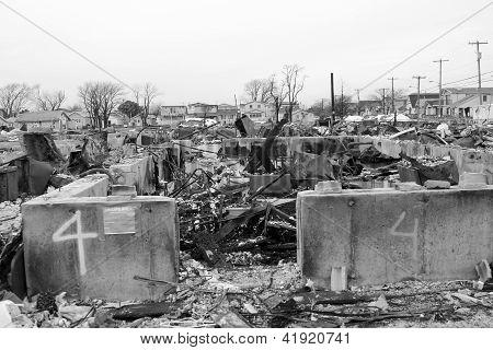 Hurricane Sandy destruction- three months later