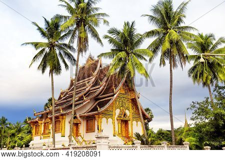 Famous Royal Palace Museum In Luang Prabang, Landmark In Laos. Royal Palace Museum Of Luang Prabang